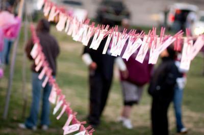 American Cancer Society walk, breast cancer, amanda krysa, pink, cancer fight,