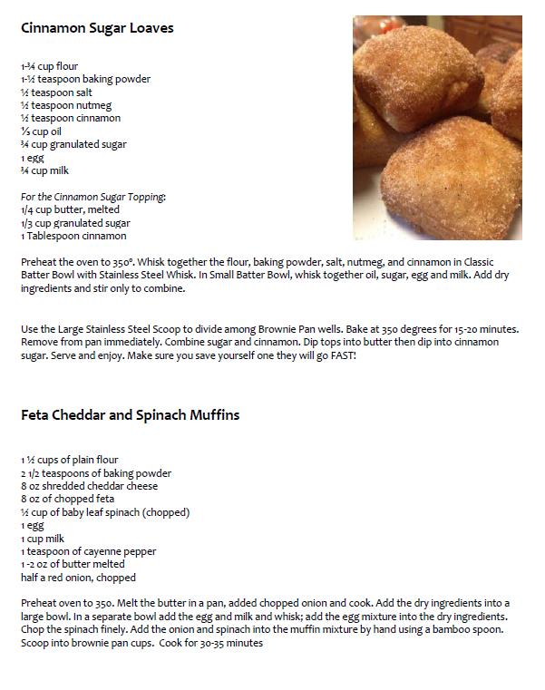 cinnamonsugarloaves-cheddarspinachmuffins